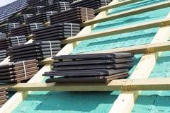 Een dak in aanbouw royalty-vrije stock foto