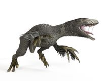 een dakotaraptor royalty-vrije illustratie