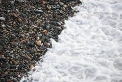 Een dakspaanstrand of van de strandsteen Stedelijke reproductie die een onweer ingaan voert Regenwater, ook gespelde stormvloed a royalty-vrije stock fotografie