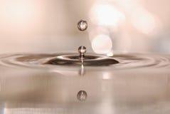 Een daling van water Stock Afbeelding