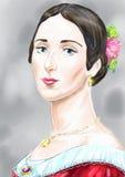 Een dame royalty-vrije illustratie