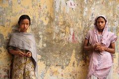 Een dame en een meisje Royalty-vrije Stock Afbeeldingen