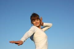 Een dansende vrouw Stock Foto