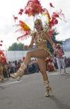 Een danser bij de Notting Heuvel Carnaval 2009 royalty-vrije stock afbeelding