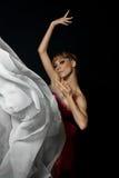 Een danser in een ballet toont Stock Foto