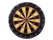 Een dartboard over een witte achtergrond wordt geïsoleerd die Royalty-vrije Stock Afbeeldingen