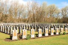Een de begraafplaatswereldoorlog 1 van België gevallen militairen Stock Foto
