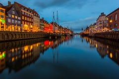 Een de 17de eeuwwaterkant Nyhavn in Kopenhagen Royalty-vrije Stock Fotografie