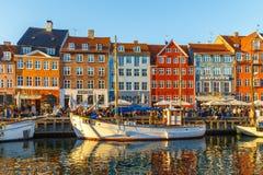 Een de 17de eeuwwaterkant Nyhavn in Kopenhagen Royalty-vrije Stock Afbeelding