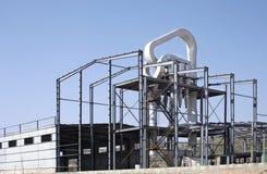 Een de industriële bouw plaats Royalty-vrije Stock Foto's