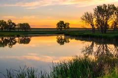 Een de Lentezonsopgang van Colorado royalty-vrije stock fotografie