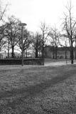 Een de winterdag in een park Royalty-vrije Stock Afbeeldingen