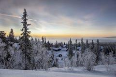 Een de winterlandschap Royalty-vrije Stock Fotografie