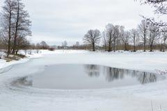 Een de Wintermeer stock fotografie