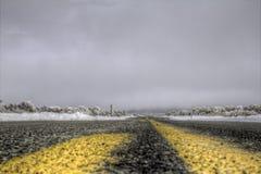 Een de winterweg Royalty-vrije Stock Foto