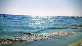 Een de zomerstrand in Cyprus royalty-vrije stock foto's