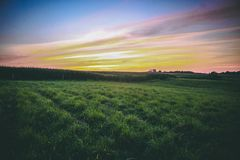 Een de zomerzonsondergang van midwesten stock fotografie