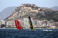 Een deel die van VOR-vloot na beginbeen 1 Alicante-Lissabon varen Stock Afbeelding