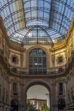 Een deel van één van architecturaal is van Milaan benieuwd - Passage In het centrum van Milaan royalty-vrije stock afbeeldingen
