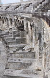 Een deel van Amphitheatre in stad van Nîmes, Frankrijk Stock Afbeeldingen