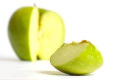Een deel van appel Stock Foto's