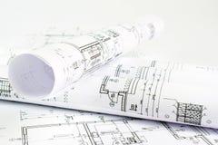 Een deel van architecturaal project royalty-vrije stock afbeeldingen