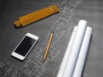 Een deel van architecturaal project Stock Fotografie
