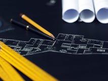 Een deel van architecturaal project Royalty-vrije Stock Afbeelding
