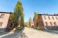 Een deel van Auschwitz-Concentratiekamp, Barakken (Polen) Stock Afbeelding