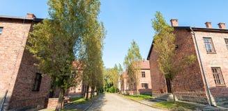 Een deel van Auschwitz-Concentratiekamp, Barakken (Polen) Royalty-vrije Stock Fotografie