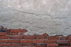 Een deel van bakstenen muur Abstracte, geweven achtergrond Royalty-vrije Stock Foto's