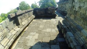 Een deel van Borobudur-Tempel in Muntilan, Centraal Java stock foto's