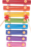 Een deel van childsstuk speelgoed xylofoon Royalty-vrije Stock Foto