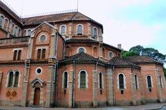 Een deel van de architectuur van de Kerk Saigon, Vietnam Stock Foto's