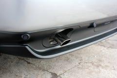 Een deel van de auto Autouitlaatpijpen royalty-vrije stock foto