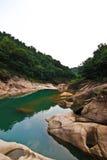 Een deel van de berg van de stad van China Stock Foto's