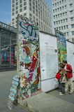 Een deel van de Berlijn muur stock fotografie