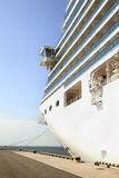 Een deel van de boog van cruiseschip Royalty-vrije Stock Foto's