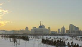 Een deel van de centrale verwarming van de stad van Astana Stock Afbeeldingen
