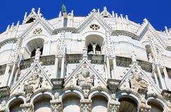 Een deel van de Doopkapel van St. John in Pisa, Italië Stock Fotografie