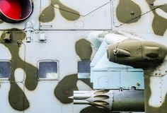 Een deel van de fuselage van een gevechtshelikopter Royalty-vrije Stock Afbeelding