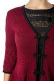 Een deel van de kleding, het wapen en de schouder van vrouwen Royalty-vrije Stock Foto