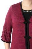 Een deel van de kleding, het wapen en de schouder van vrouwen Stock Foto's
