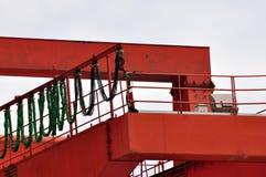 Een deel van de machine van de brugkraan Stock Afbeeldingen