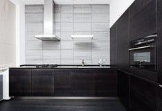 Een deel van de moderne keuken van de minimalismstijl Royalty-vrije Stock Fotografie