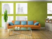 Een deel van de moderne woonkamer Stock Afbeeldingen