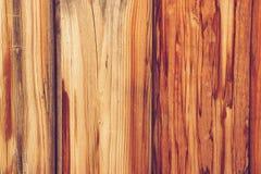 Een deel van de muur die uit houten raad bestaan Stock Afbeeldingen