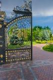 Een deel van de poort van het luxeijzer Royalty-vrije Stock Afbeelding