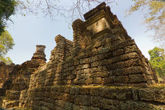 Een deel van de ruïne van Wat Chedi Chet Thaew, Si Satchanalai, Thailand Stock Afbeelding