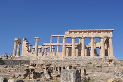 Griekse oude tempel - Aphaia - Aegina Stock Fotografie